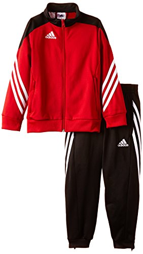 adidas Unisex - Kinder Trainingsanzug Sereno14, Top:university red/black/white Bottom:black/white, 164, D82933