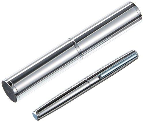Bolígrafo Inoxcrom Mini Inoxcrom M3 Your Line Cromado zona de agarre de goma en tono azul claro