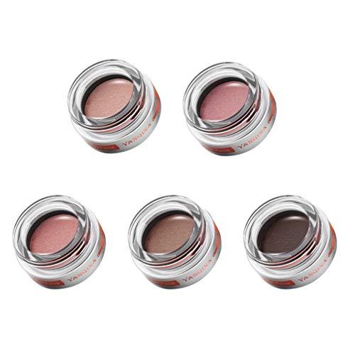 Minkissy 5 Pcs Glitter Fard À Paupières Shimmer Perle Éclaircissant Fard À Paupières Pigments Cosmétique Maquillage Accessoire Pour Le Corps Visage Oeil