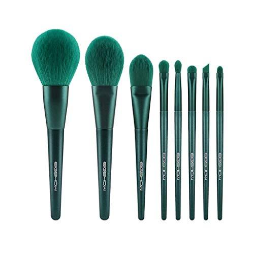 GCX- 8 pièces de Maquillage de Brosse for Les débutants étudiants Doux Set de beauté Brosse Professionnelle Ensemble Complet de Brosses Beau (Color : Green, Size : A)