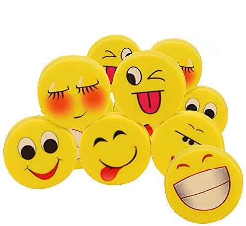 Lezed Emoji Radiergummi Karikatur Smiley Radierer Schüler Schulbedarf Kreatives Briefpapier Kinder Geburtstag Mitgebsel Gastgeschenk Geschenke für Festival Neues Jahr Weihnachten (16 Stück)