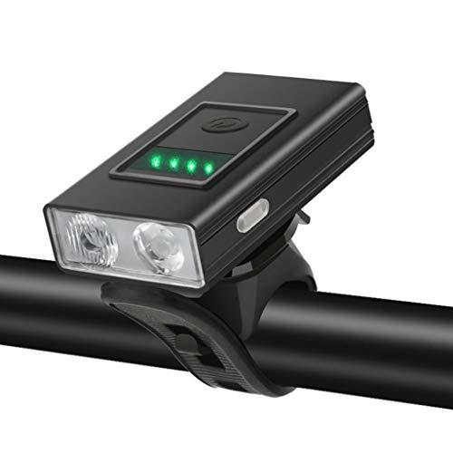 Happytoday, luz Delantera para Bicicleta con Pantalla Digital/luz indicadora 500 lúmenes 2000 mAh LED Faro-Indicador de luz Tipo B