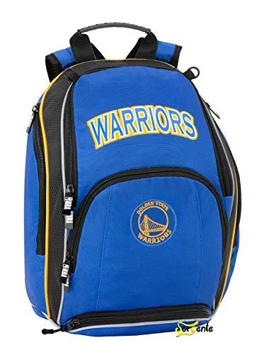 Golden State Warriors NBA Zaino Organizzato 3 Cerniere - Scuola/Tempo Libero 32x41x18 cm circa