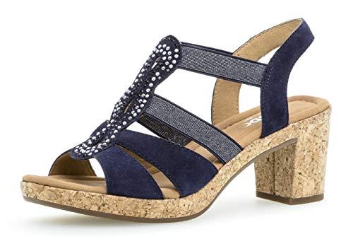 Gabor 22.774 Damen Sandalen,Sandaletten, Frauen,Sommerschuh,flach,Comfort-Mehrweite,Bluette (Kork),5 UK