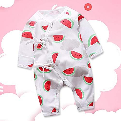 SALUTUYA Mono de Manga Larga para bebé(Watermelon, 66cm)