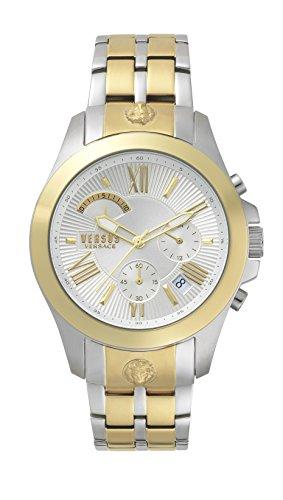 Versus Versace Herren Analog Quarz Uhr mit Edelstahl Armband VSPBH1418