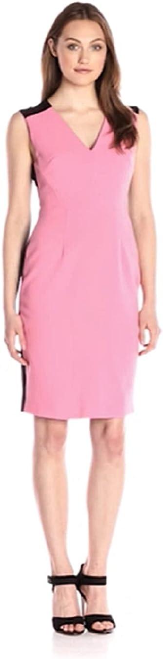 ELLEN TRACY Women's Colorblocked Seamed Sheath Dress