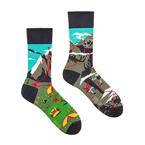 Spox Sox Casual Unisex - mehrfarbige, bunte Socken für Individualisten, Gr. 40-43, Bergklettern