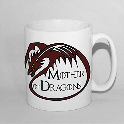 N\A Mother of Dragons Valentines Mums Juego de Tronos Taza de café de 11 oz Taza Taza de té de cerámica Taza de Bebida para Mardi Gras Día de San Valentín Cumpleaños Aniversario.