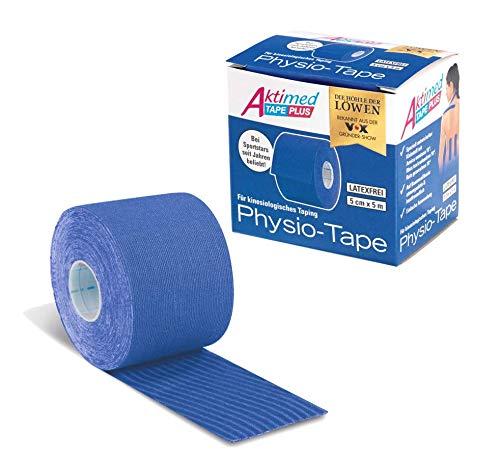Aktimed Tape Plus 2 in 1 - Sport Kinesiologie Tape mit integrierten pflanzlichen Extrakten | Patentiertes 2 in 1 Physio Tape, Designed in Deutschland [Blau]