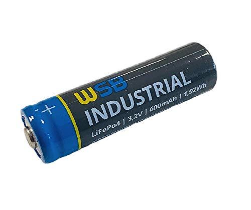 Akku SOLAR Mignon AA wiederaufladbare Batterien 3,2V 1,92Wh LiFePo4 Hochleistungs- Akku Batterie speziell für Solarlampen Solar Lichterkette Solarleuchte Leuchten