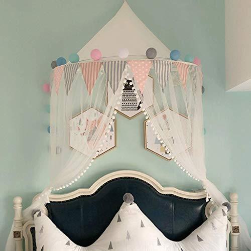 Btrice Nordic Ins Half Moon Tent Girl, Children Tent Mosquito Net Baby Play House Kindergarten Tent Princess Small Tent