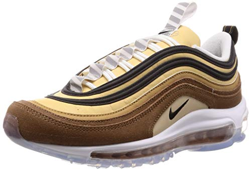 Nike Men's Air Max 97 Track & Field Shoes, Multicolour (Ale Brown/Black/Elemental Gold 201), 6.5 UK
