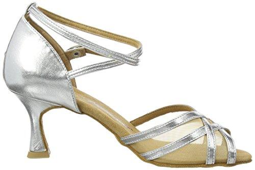 Diamant Diamant Latein 035-087-013 Damen Tanzschuhe – Standard & Latein, Damen Tanzschuhe – Standard & Latein, Silber (Silber), 39 1/3 EU (6 Damen UK) - 6