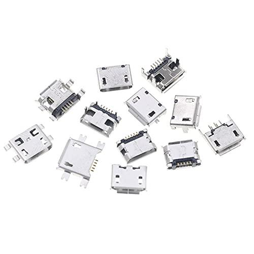 60pcs lot 5 Pin SMT Socket Connector unisex B Female Popular brand Pla Type Micro USB