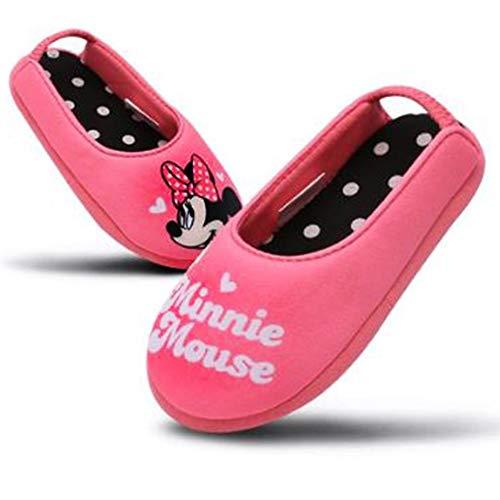 [Joah Shop] ミニーマウス 女の子 子供用 軽量 室内履き キッズ スリッパ ルームシューズ (19.0 cm) [並行輸入品]