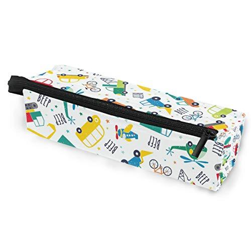 Sonnenbrillen Soft Protector Box Rhombus Federmäppchen Tasche Cartoon Beep Multifunktionstasche mit Reißverschluss für Studenten, Kinder, Jugendliche, Mädchen, Frauen, Männer, Jungen
