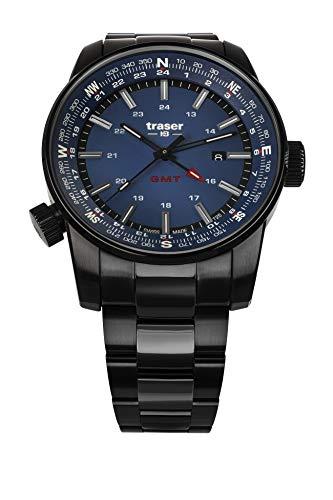 Traser H3 P68 Pathfinder GMT Blue Tactical Watch Militär Armbanduhr Edelstahl