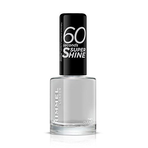 Rimmel London 60 Seconds Super Shine Esmalte de Uñas Tono 740 Clear, 8 ml