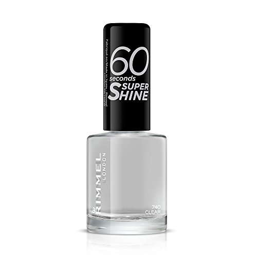 Rimmel London 60 Seconds Super Shine Esmalte de Uñas Tono 740 Clear, 8 ml