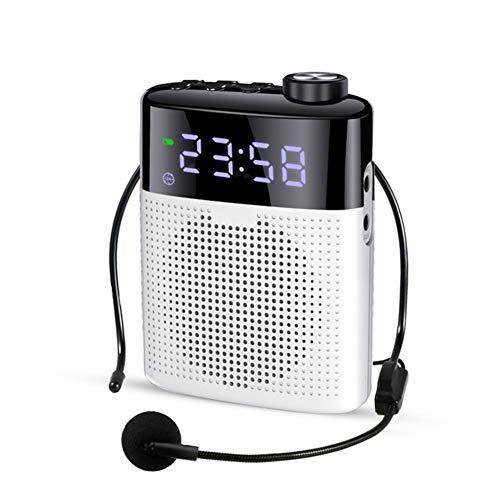 LYA draagbare Bluetooth Megafon, Wired Spraakversterker Mini-luidspreker met microfoon ondersteuning FM-radio TF AUX wekker