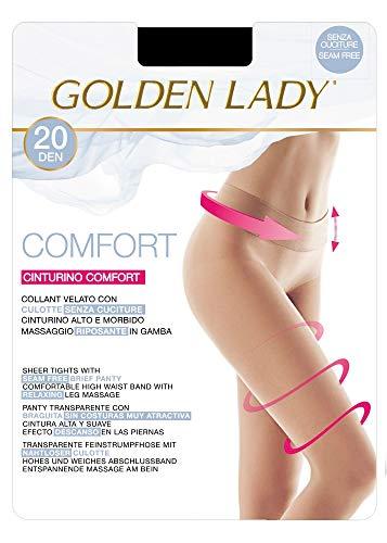 Golden Lady - Medias sin costuras (20 unidades), color negro y beige Negro Negro (M