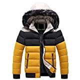 Men's Windproof Skiing Jacket Mountain Waterproof Jacket Soft Shell Removable Fur Hooded Zip Pockets Winter Warm Snow Coat