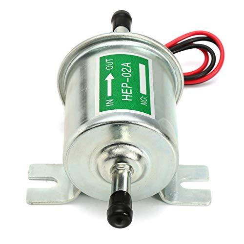 QEUhang Universal 12V Kraftstoffpumpe HEP-02A Benzinpumpe Dieselpumpe Elektrische Baumaschine