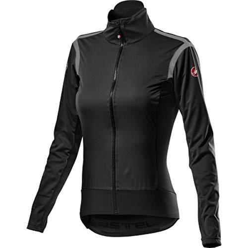 castelli Alpha Ros 2 W Jacket, Giacca Sportiva Donna, Light Black, XS
