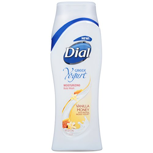 Dial Body Wash, Greek Yogurt Vanilla Honey with Moisturizers, 16 Fluid Ounces (Pack of 3)