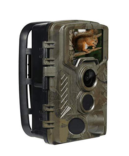 Technaxx Nature Wild Cam 8MP TX-125 Full HD batteriebetriebene Überwachungskamera Innen- & Außenbereich Nachtsicht Bewegungsmelder Jagdkamera Wildtierkamera für Überwachung