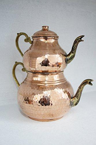 Rame Grandbazaarshopping Turkish Tea Maker, Samovar, artigianale fatto a mano, tradizionale turco per teiera, Tea pot by Grandbazaarshopping