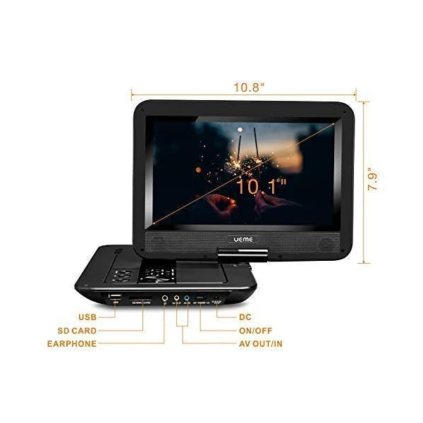 Portable DVD Player with 10.1 Inches LCD Screen 6