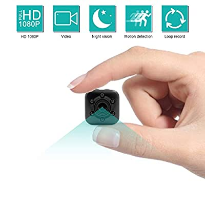 MINGYY Small Spy Camera HD 1080P Portable Hidden Camera Nanny Cam with Night Vision Motion Detective Video Recorder Cam for Home Surveillance Cameras