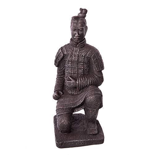 Figura de Guerrero de cerámica Gris Oriental para decoración de Exterior - LOLAhome