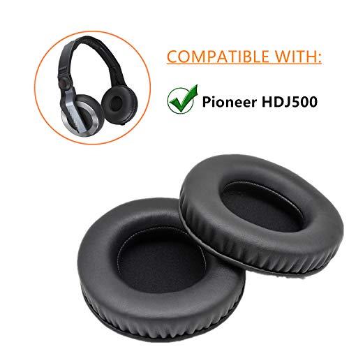1 par de Almohadillas de Repuesto para Auriculares Pioneer HDJ500 hdj 500 hdj-500 Negro
