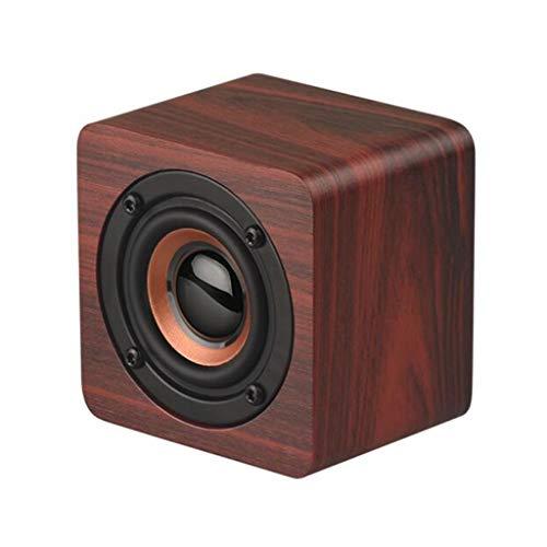 Altavoz Bluetooth inalámbrico de Madera, Q1 teléfono móvil Mini Audio Creativo, Altavoz Bluetooth 4.2, Batería de Litio de 1200 mAh (Color : Bluetooth Speaker 2)