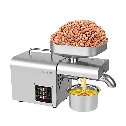 Fayelong Machine Extraction Huile Pressoir à Huile Cacahuète Presse Huile Électrique pour graines de Chanvre Graine de Lin graines sésame Tournesol (Affichage LCD)