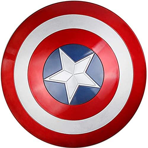 MOMAMOM Escudo Capitan America Adulto ABS 1: 1 Apoyos de Película Escudo Niños Capitán América Disfraz Shield Cosplay 58cm/22.8in DecoracióN de Pared de Bar