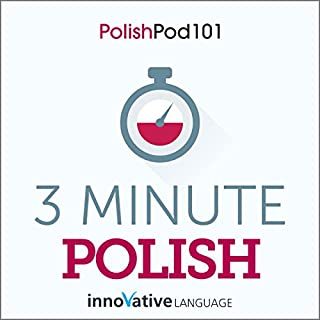 3-Minute Polish - 25 Lesson Series Audiobook cover art