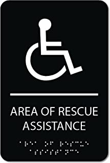 Area of Rescue Assistance Sign - ADA compliant sign. 6