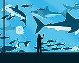 Kpoiuy Rompecabezas De Madera para NiñA, Peces De Acuario, Tiburones, Rompecabezas De 1000 Piezas, Juegos De Rompecabezas para NiñOs, DecoracióN NavideñA En 3D