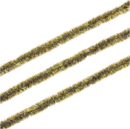 Ojis Ecart 1 Piece Black & Gold Tinsel Garland