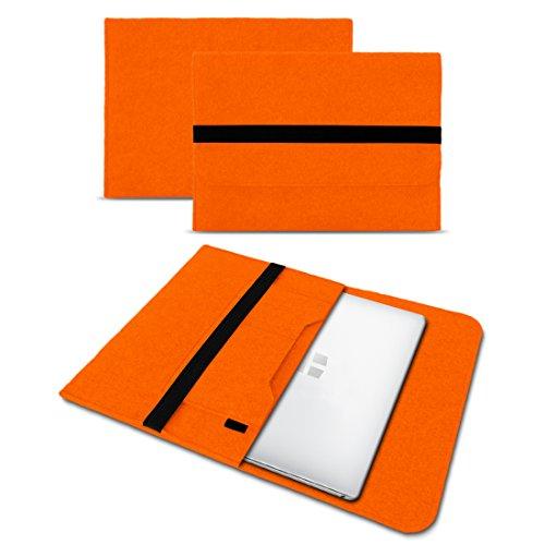 UC-Express Sleeve Hülle kompatibel für Odys Trendbook 14 Pro Tasche Filz Notebook Cover 14' Laptop Schutz Hülle, Farbe:Orange