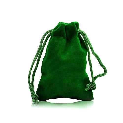 YFZYT 20 Stück Elegante einfarbige Samtbeutel, Schmuckbeutel Süßigkeiten Taschenverpackungen für Party Hochzeitsbevorzugungsgeschenk Aufbewahrung Lebensmittel - 7 * 9 cm, grün