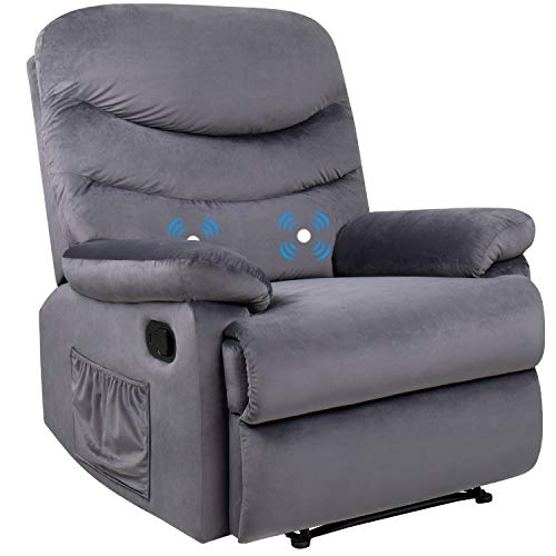 Homall Recliner Chair Padded Seat for Living Room Theater Seating Massage Recliner Single Sofa with Thick Seat Cushion Modern Recliner Seat Club Chair Home