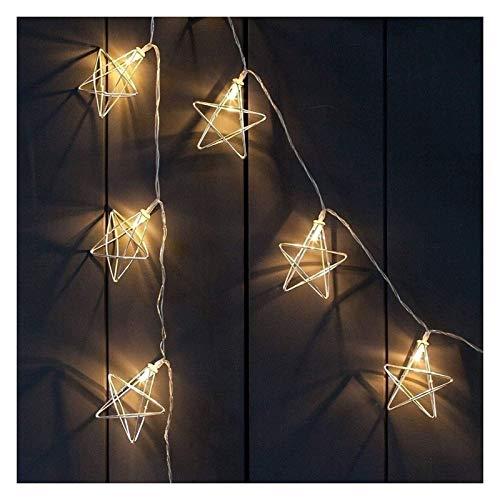LIFEIYAN String Light Holiday Lights, 3m 20 Lights Decorative Lamp Fairy Star Rose Gold Battery Powered Fairy Lights, Waterproof Outdoor String Lights For Garden Patio Yard Christmas Tree Party Weddin