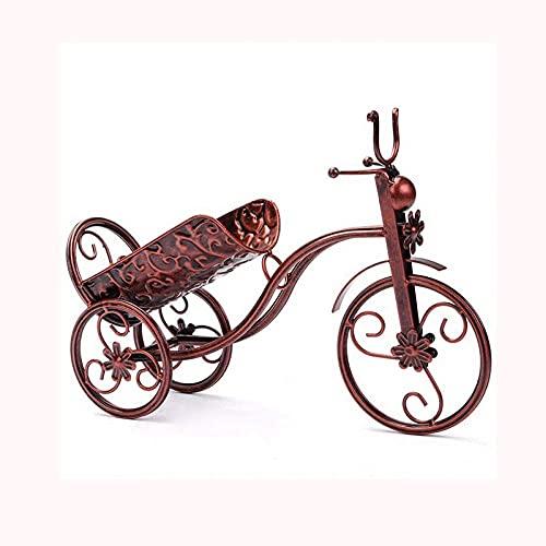 ZJZ Soportes para Botellas de Vino Estantes para Vino montados en la Pared Dispensador Bar de vinos Bicicletas metálicas ópticas