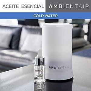 Ambientair. Aceite perfumado hidrosoluble 15ml. Aceite hidrosoluble Cold Water, agua fría, para humidificador de ultrasonidos. Perfume de Cold Water para ambientador de vapor de agua. Aceite perfumado sin alcohol.