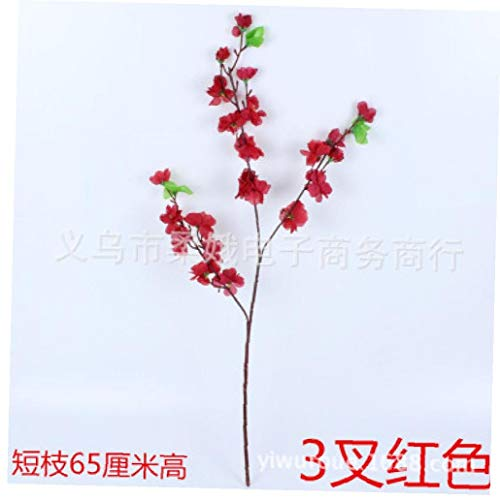 Sztuczne gałązki kwiatowe kwiaty brzoskwinia jedwab sztuczna wiśnia śliwka bukiet bukietu aranżacje na ślub dom czerwone meble ogrodowe